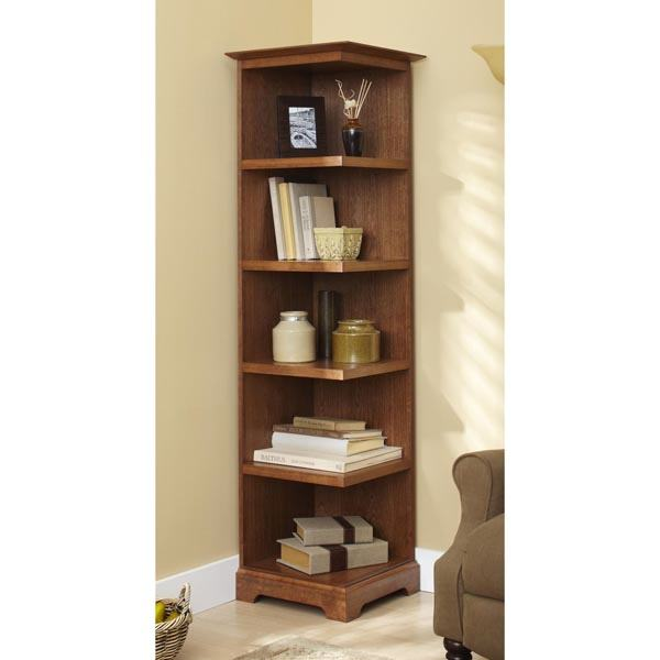 31 md 00937 corner bookcase woodworking plan for Furniture 63376