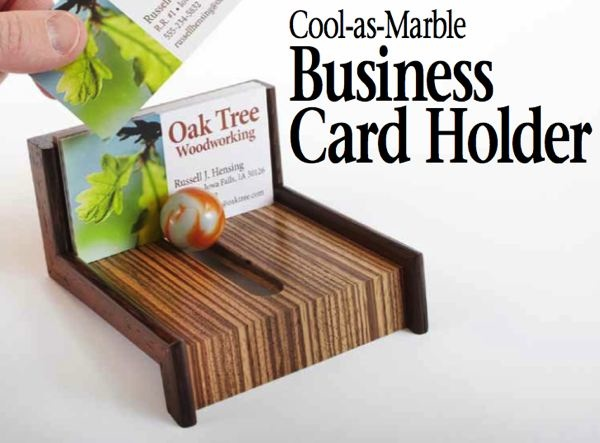 Business Card Holder Woodworking Plan