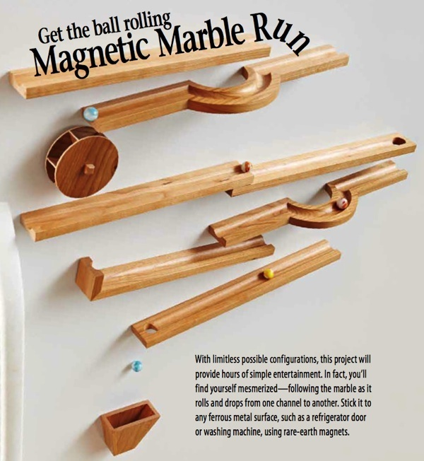 31 Md 00951 Magnetic Marble Run Woodworking Plan