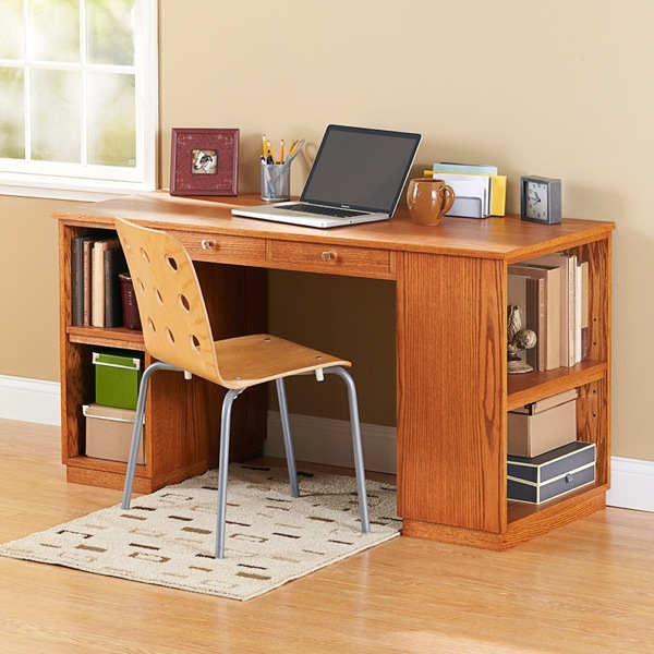 Build-to-Suit Study Desk Woodworking Plan.