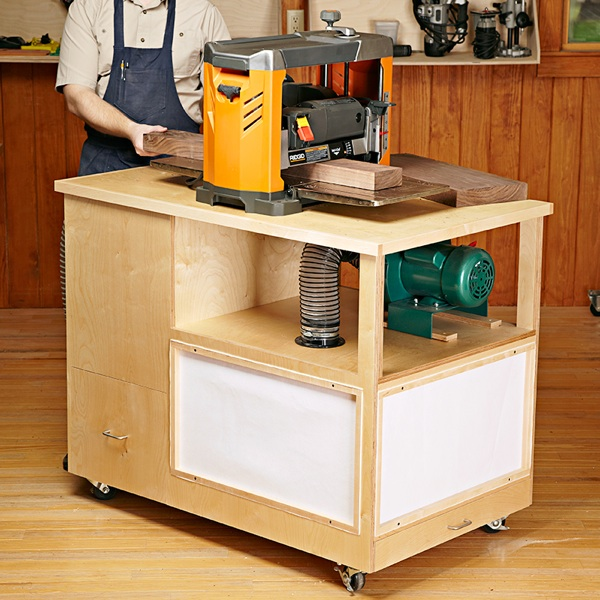 Dust Collecting Tool Stand Woodworking Plan.