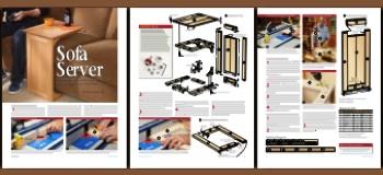 31 MD 00962   Sofa Server Woodworking Plan.