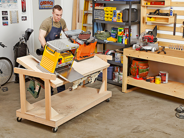 Flip-top Tool Bench Woodworking Plan woodworking plan