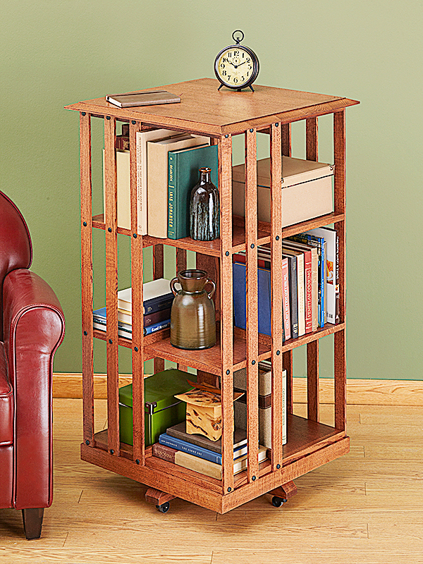 Revolving Danner-inspired Bookcase Woodworking Plan woodworking plan