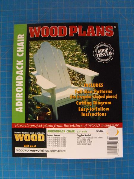 Adirondack Lawn Chair Woodworking Plan.