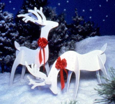 Graceful Reindeer Full Size Woodworking Pattern.