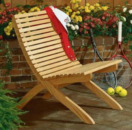 Two Part Patio Chair Woodworking Plan.