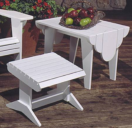 Adirondack footstool and side table woodworking plan set for Adirondack side table plans