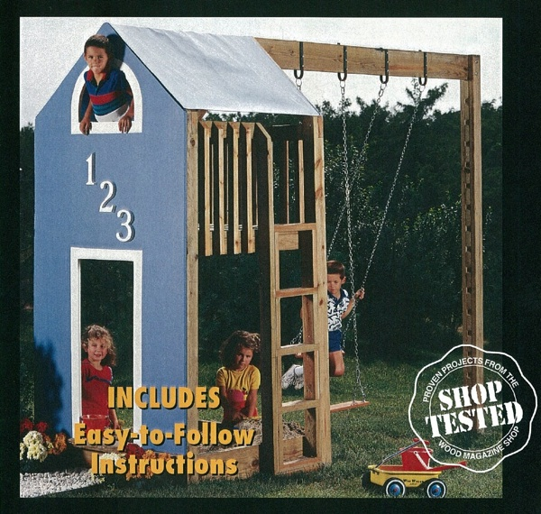 31-OFS-1017 - Kids Play Retreat Fort Woodworking Plan.