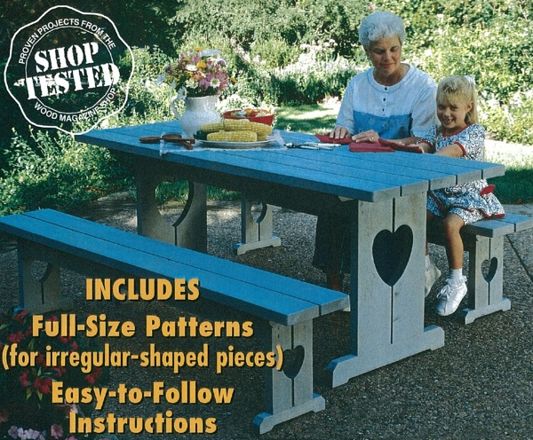 Picnic Table and Benches Woodworking Plan