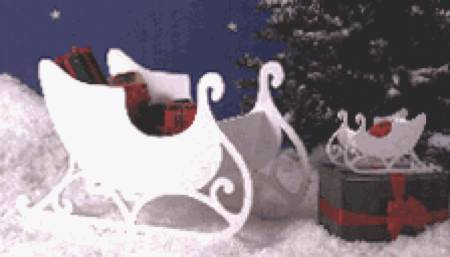 Medium and Small Sleigh Woodworking Plan.