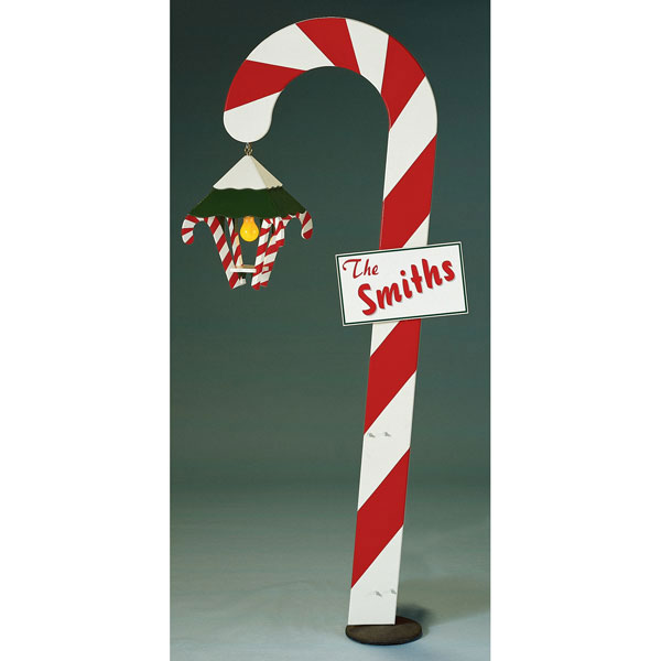 Candy Cane Lantern Woodworking Plan.