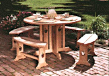 Apple Patio Table and Benches Woodworking Plan