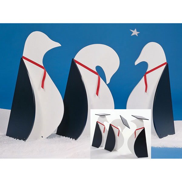 31-OFS-1045 - Penguins on Parade Yard Art Woodworking Plan.