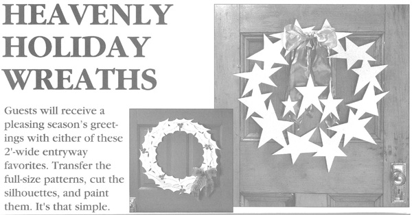 31-OFS-1051 - Heavenly Holiday Wreaths Woodworking Plan Set - 2 patterns included