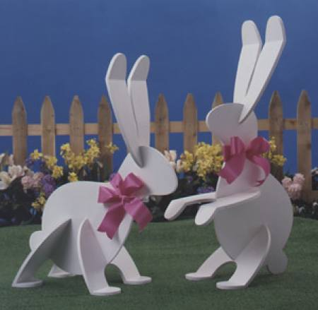 Garden Wabbits Woodworking Plan Set - 2 patterns included