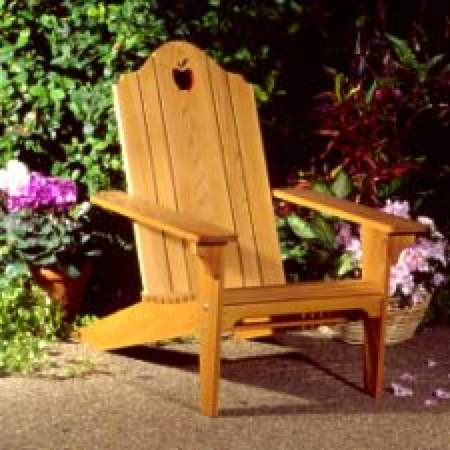 31-OFS-1062 - Folding Adirondack Lawn Chair Woodworking Plan.