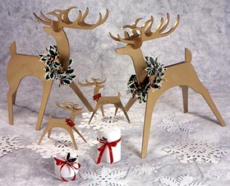 Sleek and Stylish Reindeer Medium and Tabletop Woodworking Plan - 2 sizes included.