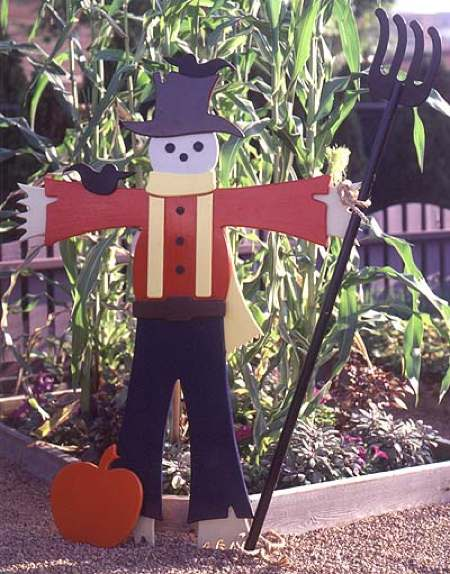 31-OFS-1081 - Easy Going Scarecrow Full Size Woodworking Plan