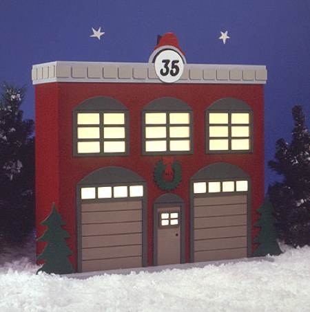 Americana Village Fire Station 35 Woodworking Plan