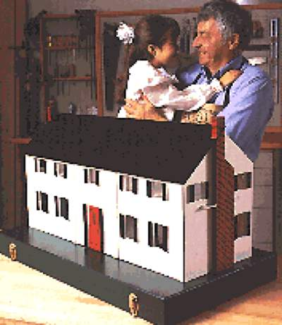 Dollhouse in a Box Woodworking Plan