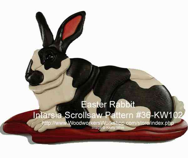Easter Rabbit Intarsia Woodworking Pattern