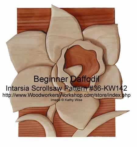 Beginner Daffodil Intarsia Woodworking Pattern Woodworkersworkshop