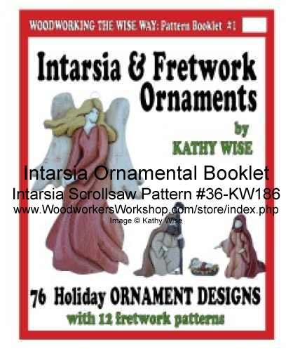 36-KW186 - 76 Intarsia and Fretwork Ornaments Pattern Booklet