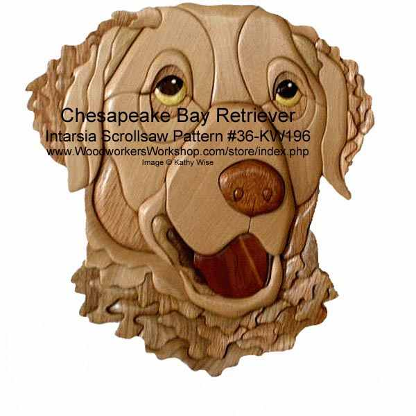 Chesapeake Bay Retriever Intarsia Woodworking Pattern