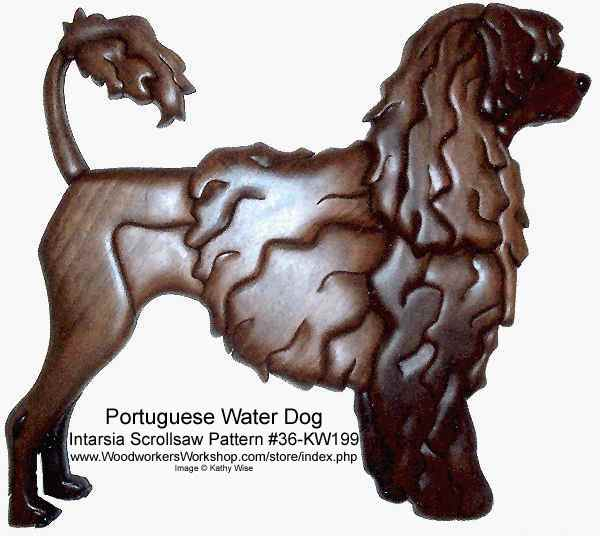Portuguese Water Dog Intarsia Woodworking Pattern