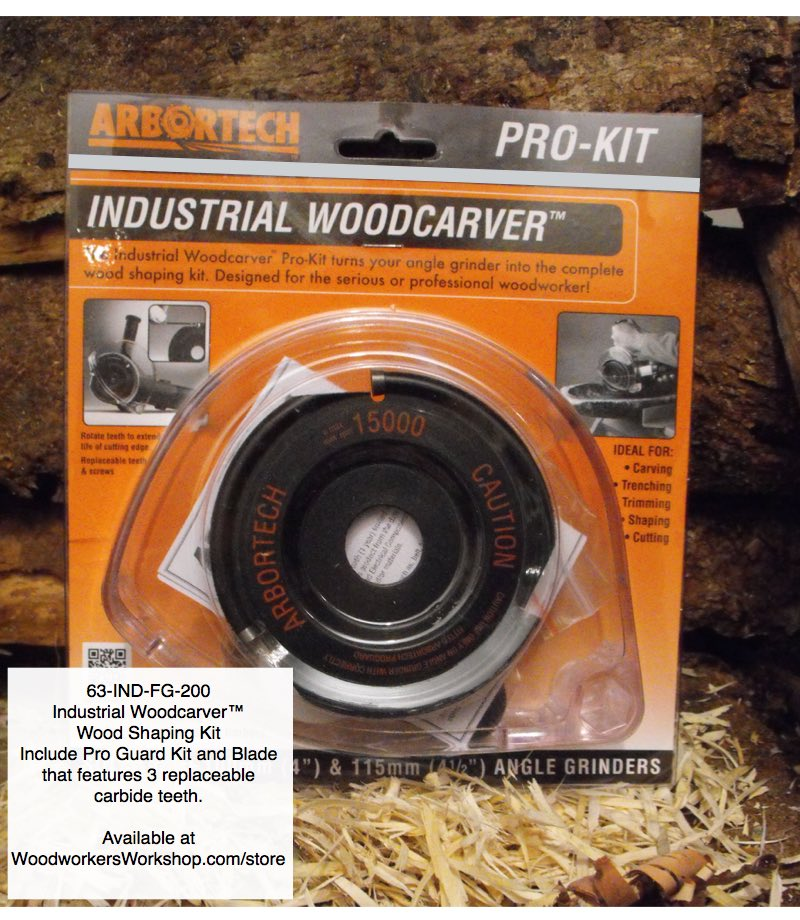 Industrial Woodcarver™ Pro-Kit Arbortech™ Tool Accessory woodworking plan