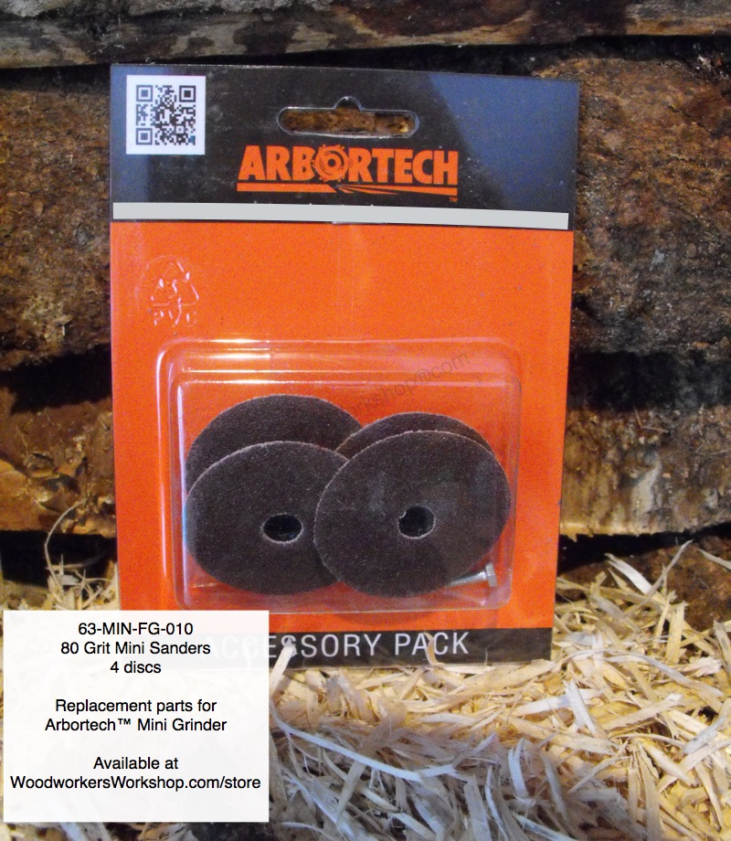 Mini Sander Discs 80 Grit 4 pk for Arbortech Mini Grinder Power Tool