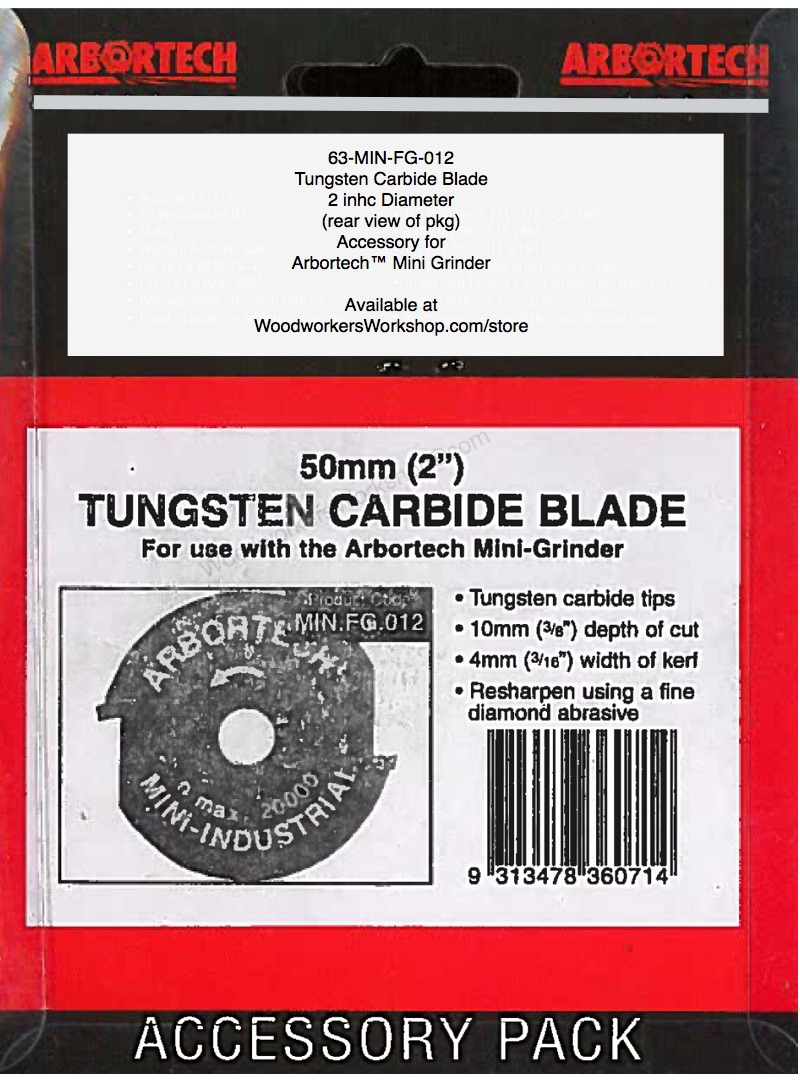 Tungsten Carbine Blade 2 inch for Arbortech Mini Grinder Power Tool