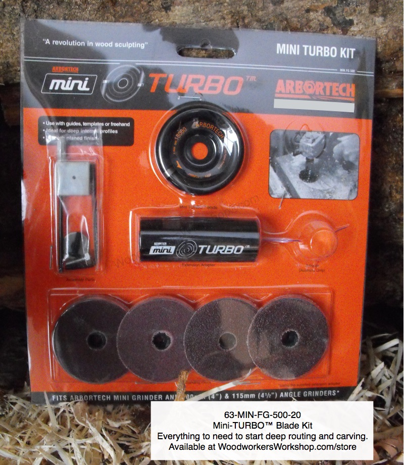 Mini-TURBO™ Arbortech™ Wood Sculpting Kit woodworking plan