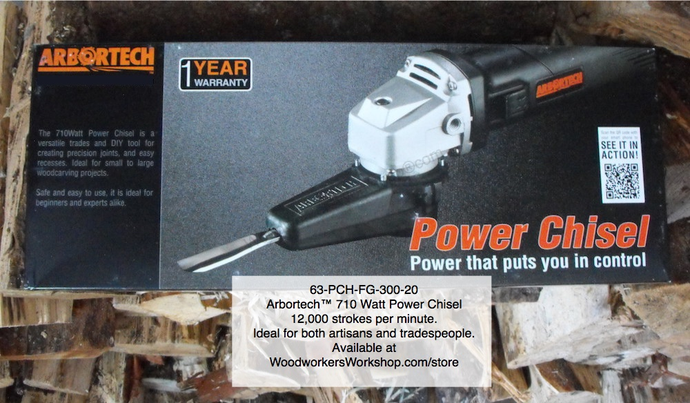 Arbortech™ Power Carver KIt featuring 2 Chisels woodworking plan