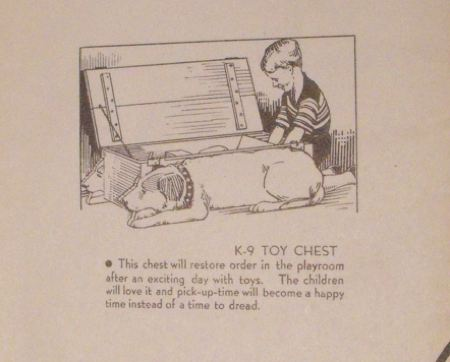R-ANH0112 - K-9 Toy Box Vintage Woodworking Plan