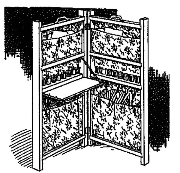 Sewing Screen Vintage Woodworking Plan