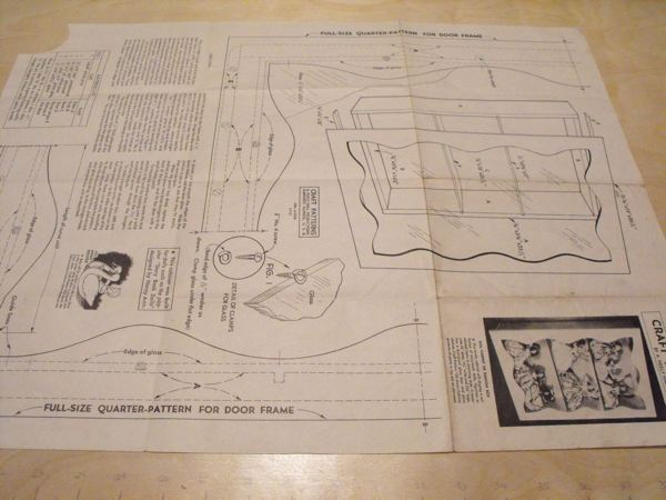 Doll Cabinet or Shadow Box Vintage Woodworking Plan