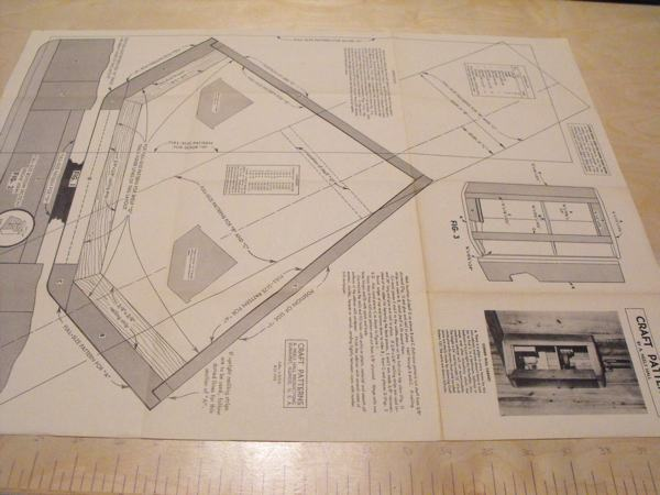 Corner Wall Cabinet Vintage Woodworking Plan