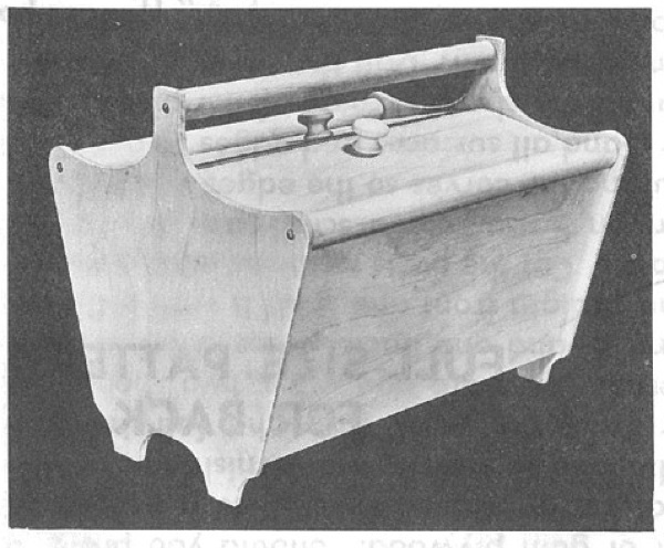 Portable Sewing Box Vintage Woodworking Plan.