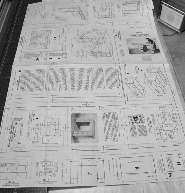 R-ANH0182 - A Sewing-Machine Cabinet and Desk Vintage Woodworking Plan