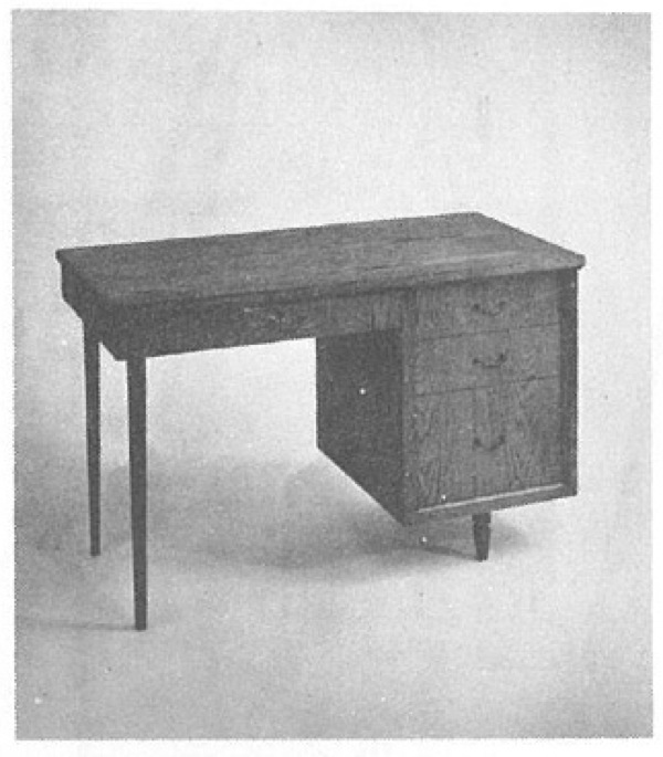 Sewing Cabinet and Desk Vintage Woodworking Plan.