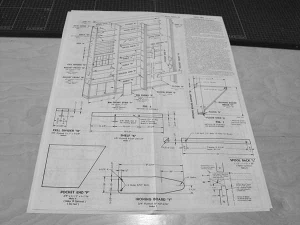 R-ANH0184 - Home Sewing Center Vintage Woodworking Plan