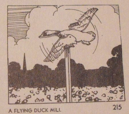 A Flying Mallard Duck Windmill Vintage Woodworking Plan.