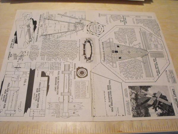 A Dutch Windmill Vintage Woodworking Plan
