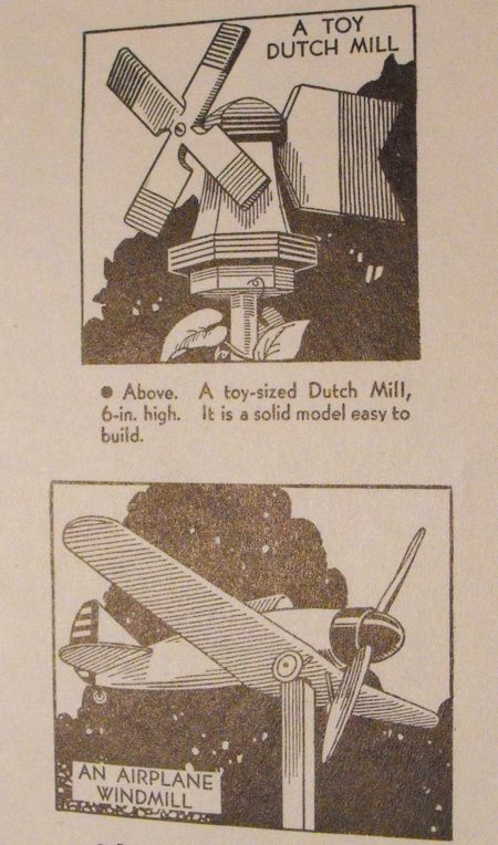 R-ANH0217 - 2 Windmill Vintage Woodworking Plans - Toy Dutch Mill and Airplane