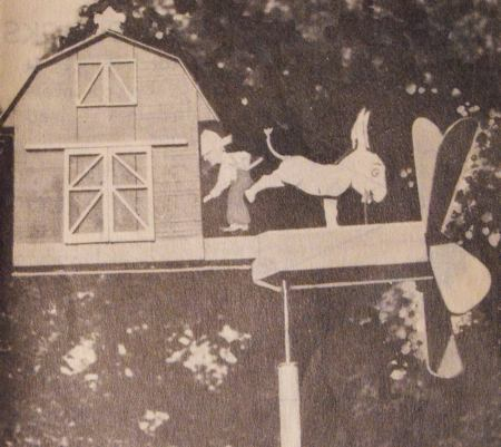 Kicking Mule Windmill Vintage Woodworking Plan.