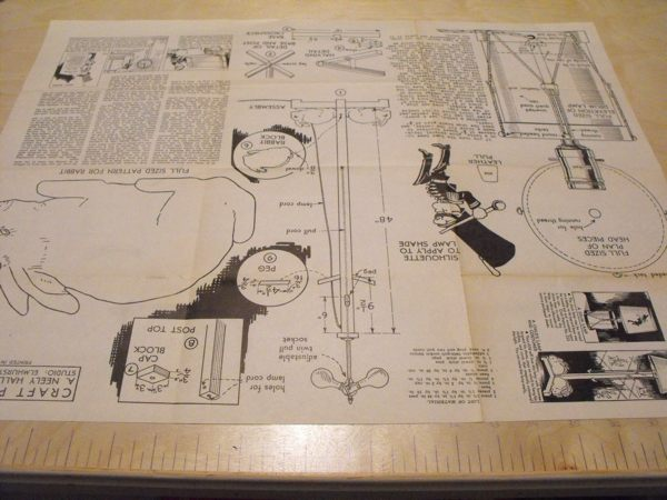 Drum Lamp and Childs Lamp Vintage Woodworking Plan
