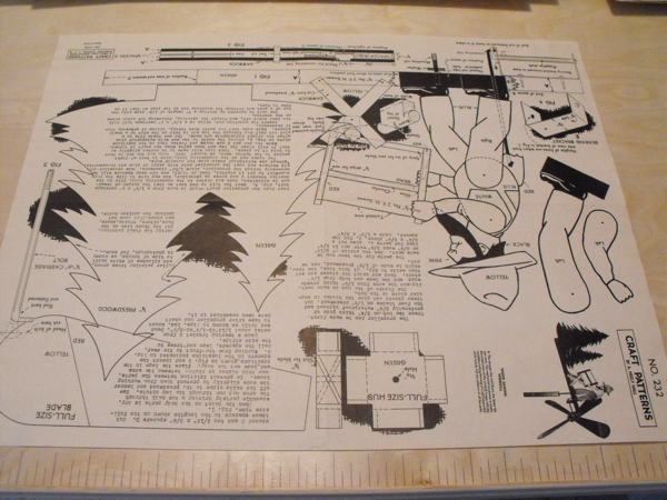 Wood Sawing Windmill Vintage Woodworking Plan.