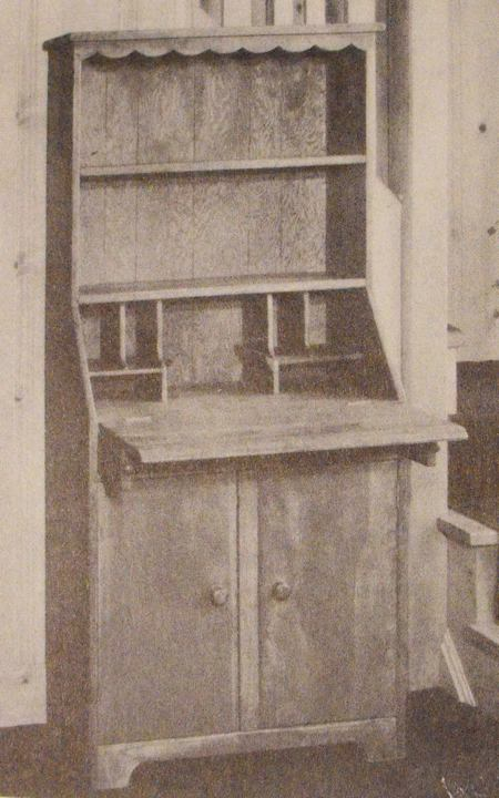 Bookcase Secretary Vintage Woodworking Plan.